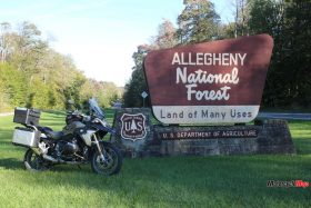 Entering Allegeny National Forest