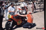 Bonera in Australian TT practice at Laverton February 1976