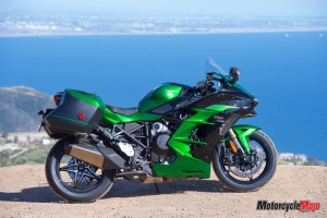 The Kawasaki Ninja H2 SX SE in front of water