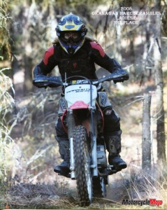 Kathy Hubble Riding Through a Forest