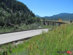 27 Old Sunshine bridge and its replacement near Castlegar