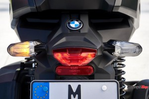 Tailights of the BMW C400X Scooter