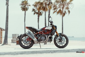 The 2019 Indian FTR1200 with Palm Trees