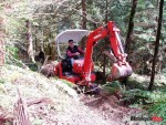 Wally Klammer clears a trail at Omak Hill near Chilliwack with his Kubota excavator