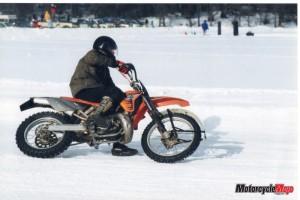Wally ice racing at Stake Lake near Kamloops in 2002