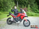 Wally on a favourite bike, his Ducati Multistrada