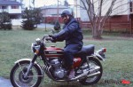 Wally on a favourite bike honda 750 Four in 1976