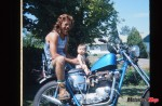 Wally with Triumph chopper and daughter Jenny in the early 1970s