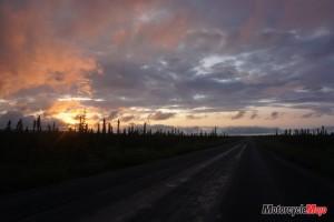 Beautiful Sunset in Tuktoyaktuk