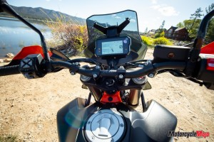 Dashboard of the 2019 KTM 790 Adventure