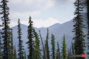 Travelling through the mountains in Tuktoyaktuk