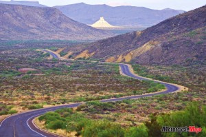 Winding Road in West Texas