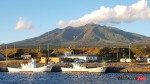 Mt rishiri and fishing harbour